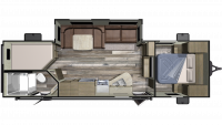 2019 Launch Outfitter 27BHU Floor Plan