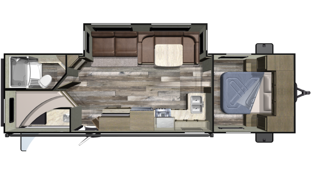 2019 Launch Outfitter 283BH Floor Plan