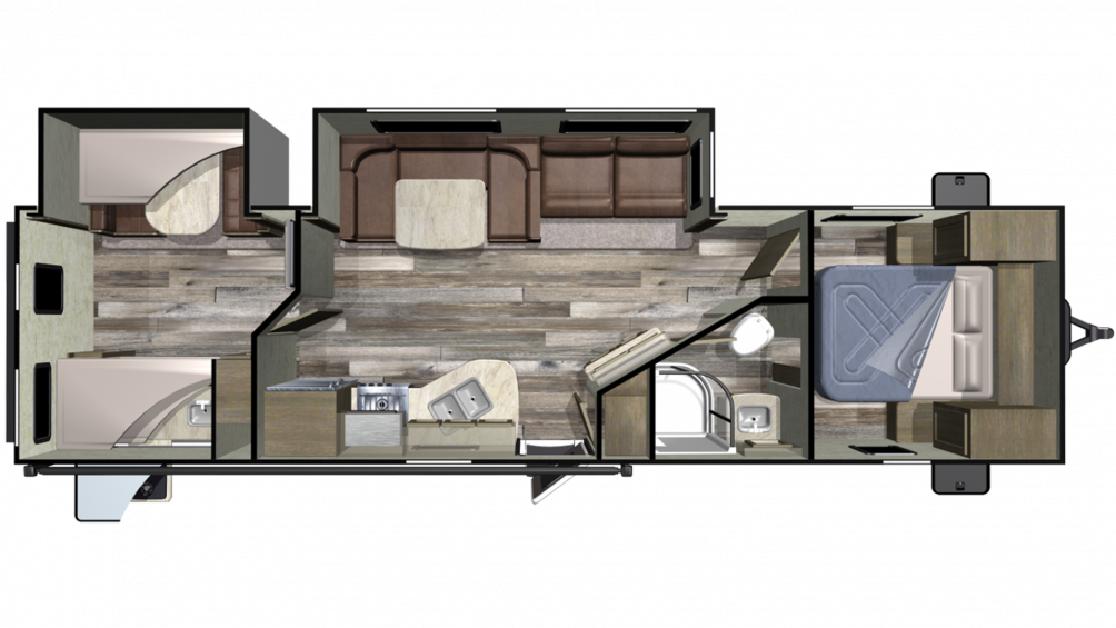 2019 Launch Outfitter 31BHS Floor Plan Img