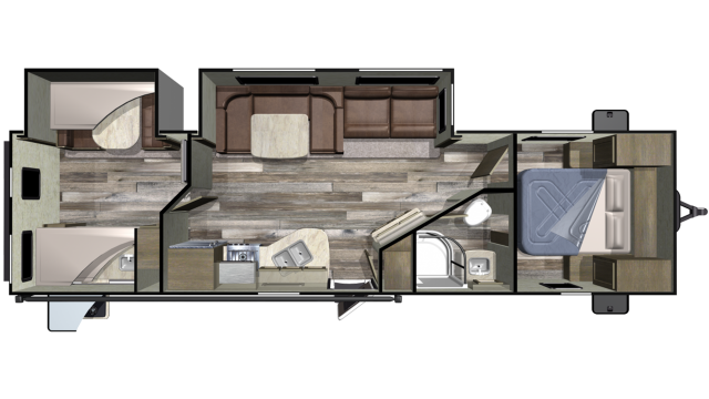 2019 Launch Outfitter 31BHS Floor Plan
