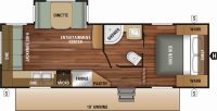 2019 Mossy Oak 23RLS Floor Plan