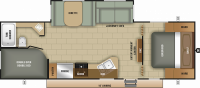 2019 Mossy Oak 26BHS Floor Plan