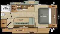 2018 Mossy Oak 27BHS Floor Plan