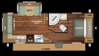 2019 Mossy Oak Lite 24RLS Floor Plan