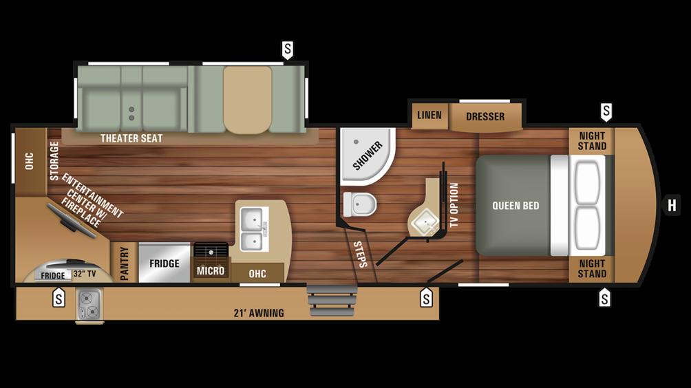 2018 Telluride 250RES Floor Plan Img