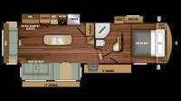 2018 Telluride 292RLS Floor Plan
