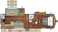 2019 Telluride 289RKS Floor Plan