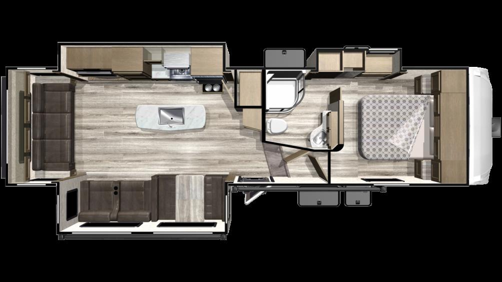 2019 Telluride 292RLS Floor Plan Img
