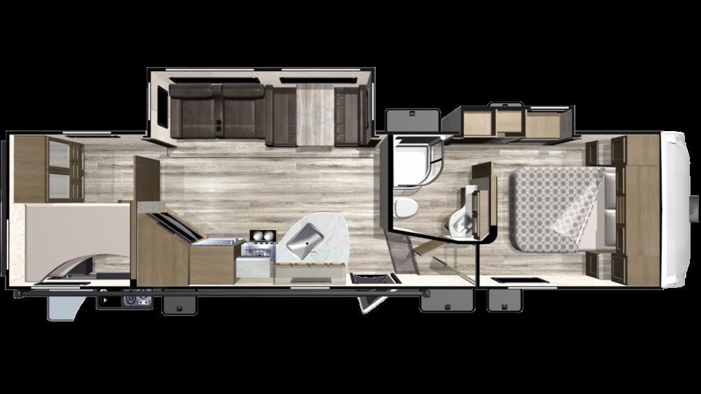2019 Telluride 296BHS Floor Plan Img