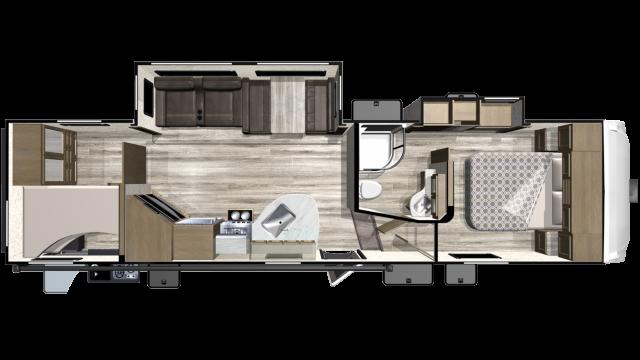 2019 Telluride 296BHS Floor Plan