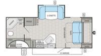 2016 White Hawk Ultra Lite 23MRB Floor Plan