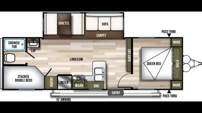 Wildwood 26DBLE Floor Plan - 2020
