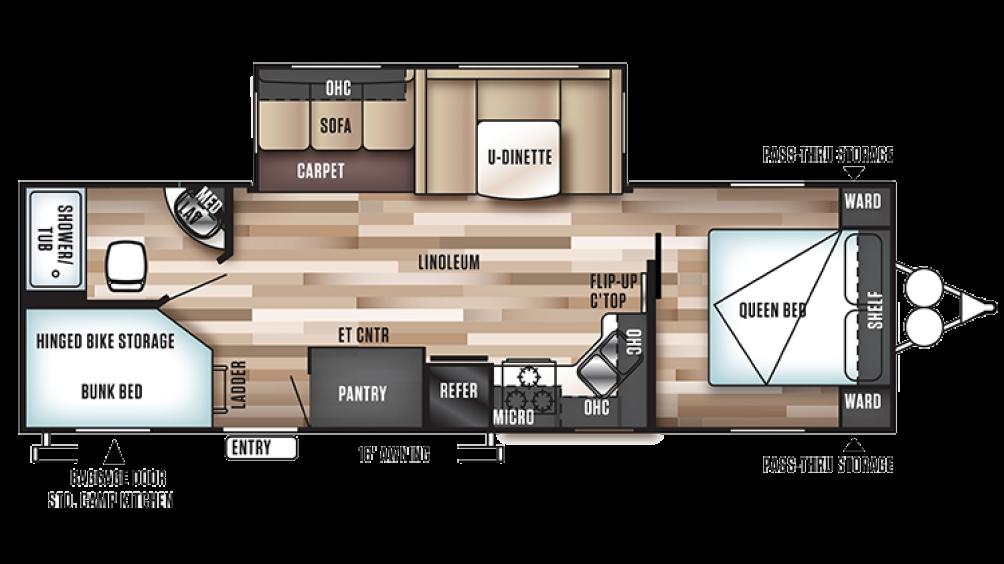 Wildwood 27DBK Floor Plan - 2017