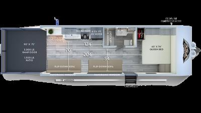 Wildwood FSX 190RT Floor Plan - 2020