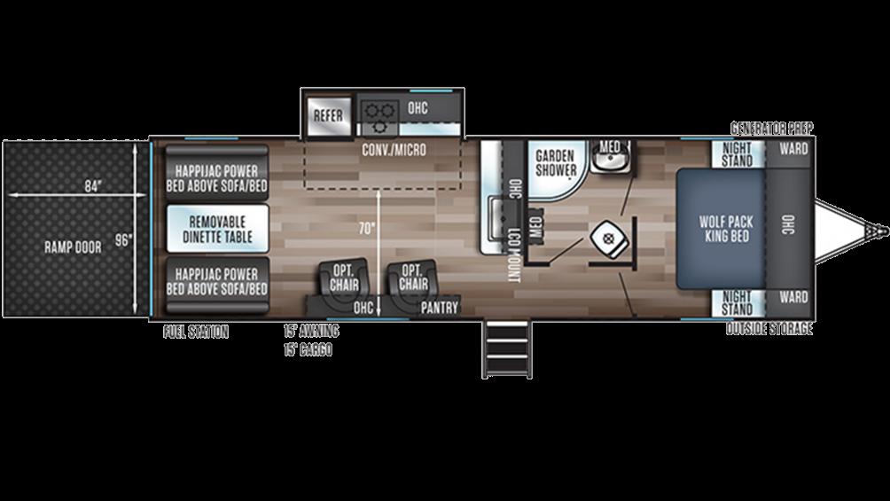Wolf Pack 23GOLD15 Floor Plan - 2020