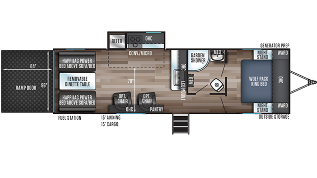 2020 Wolf Pack 23GOLD15 Floor Plan