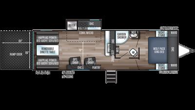 Wolf Pack 23PACK15 Floor Plan - 2020