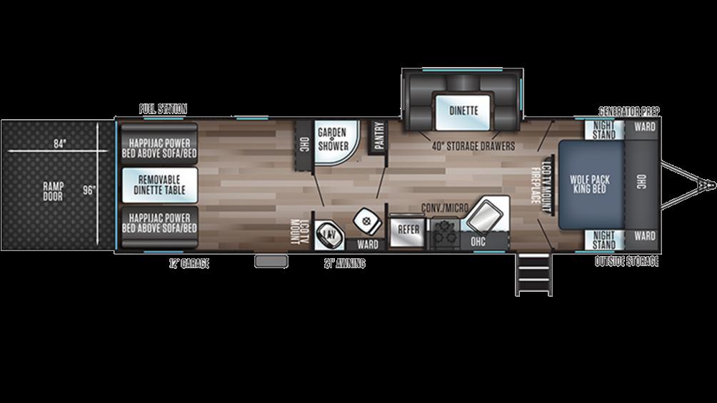Wolf Pack 25GOLD12 Floor Plan - 2020