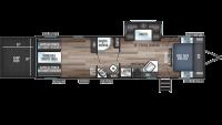 2020 Wolf Pack 25PACK12+ Floor Plan