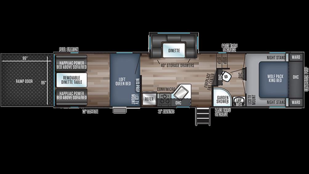 Wolf Pack 295PACK13 Floor Plan - 2020
