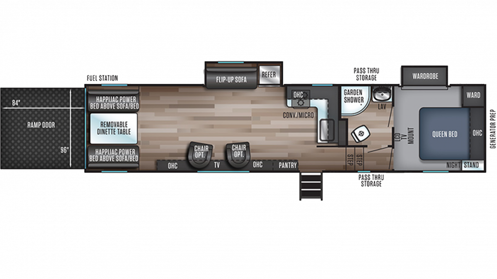 Wolf Pack 305PACK22 Floor Plan - 2020