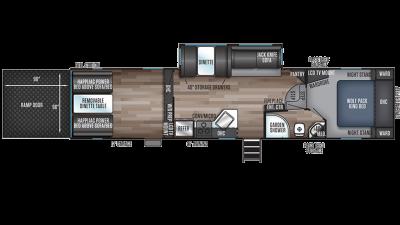 Wolf Pack 315PACK12 Floor Plan - 2020