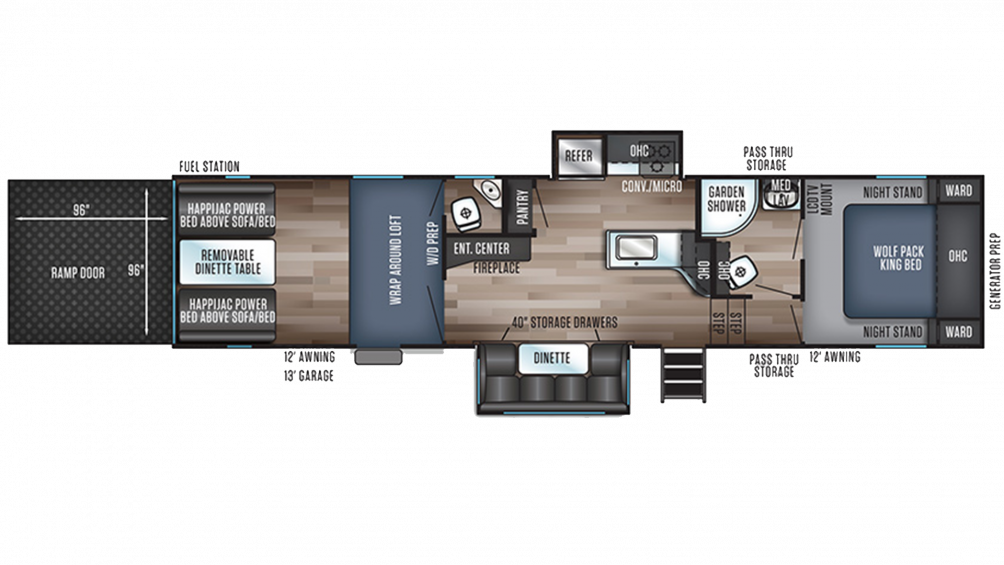 Wolf Pack 325PACK13 Floor Plan - 2020