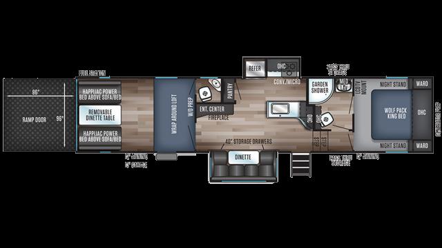 2020 Wolf Pack 325PACK13 Floor Plan