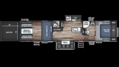 Wolf Pack 325PACK13 Floor Plan - 2020
