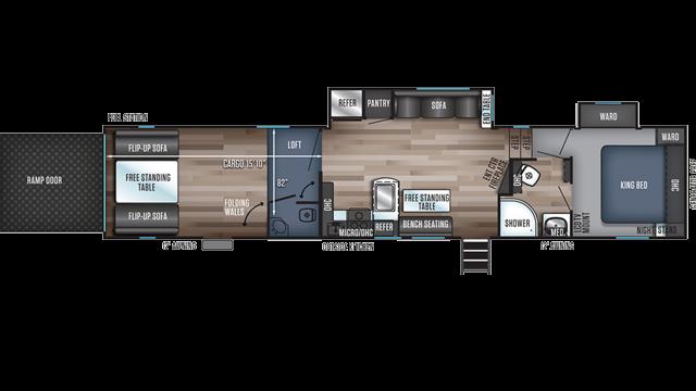 2020 Wolf Pack 365PACK16 Floor Plan