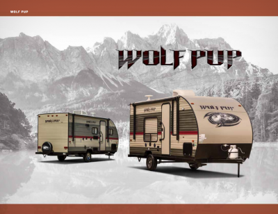2018 Wolf Pup Brochure Cover