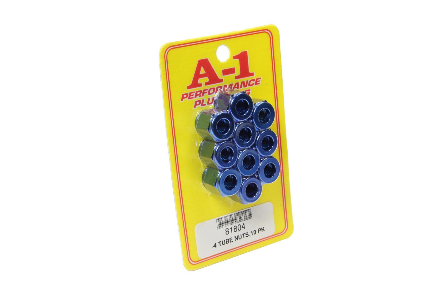A-1 Products #4 AN Aluminum Tube Nut 10pk