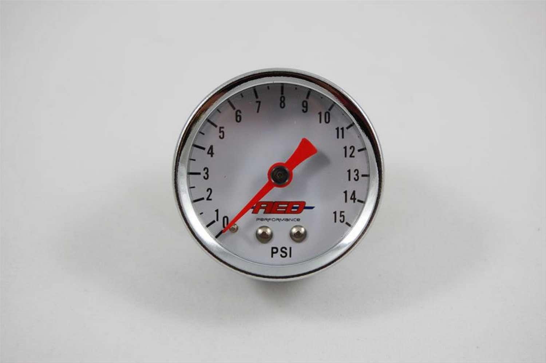 Advanced Engine Design 1-1/2 Fuel Pressure Gauge 0-15psi