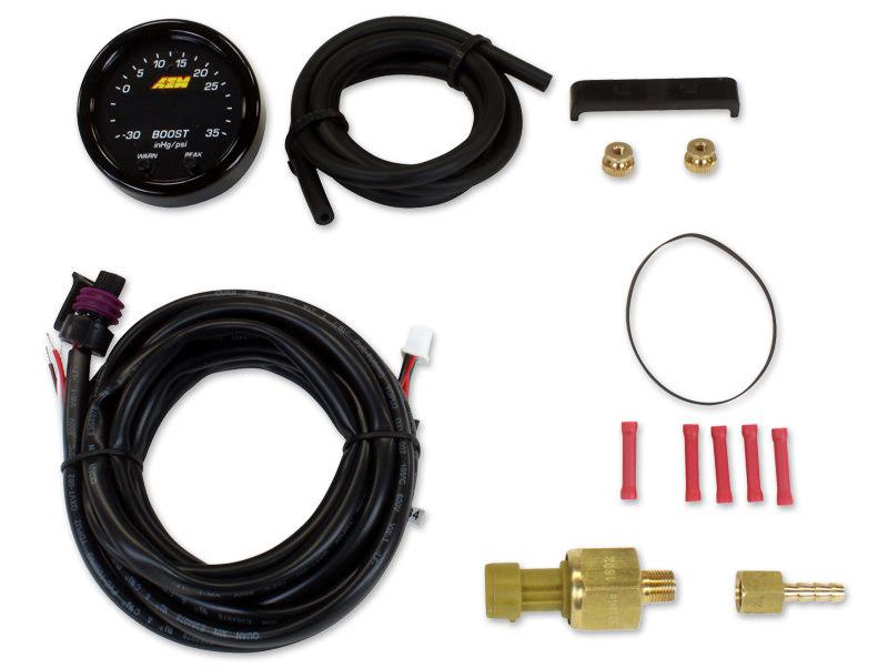 Aem X-Series Boost Pressure Gauge -30inHg-35psi