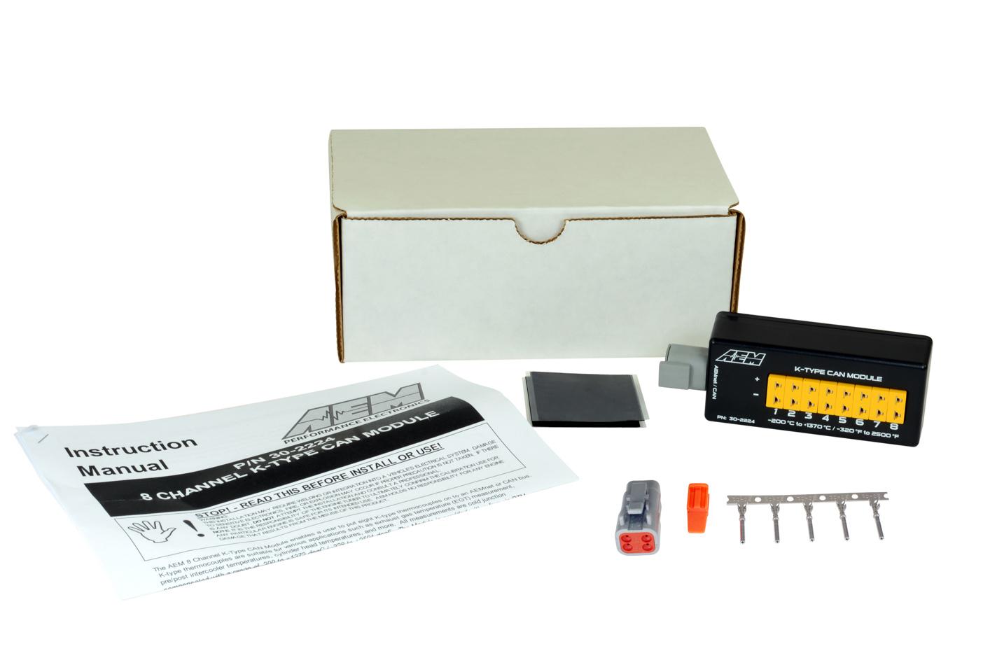 Aem 8-Channel K-Type Thermoc ouple EGT/Temp Sensor