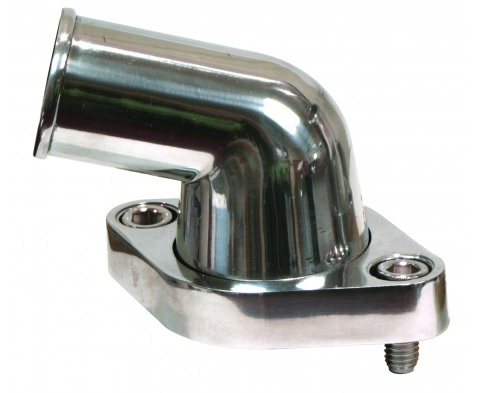 Afco Racing Products Water Neck Swivel 15 Deg Polished Alum