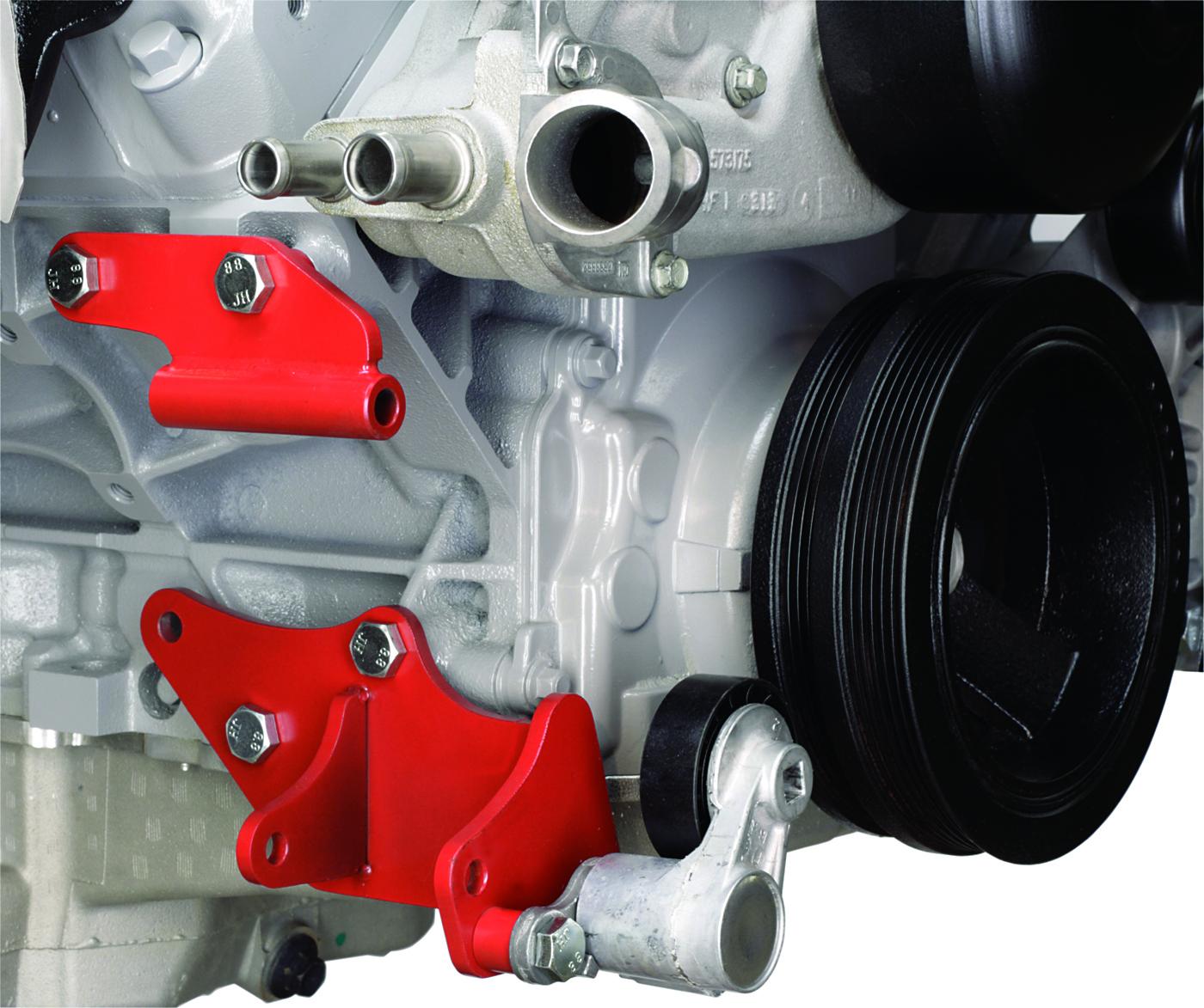 Alan Grove Components LS Engine Low A/C Compressor Bracket