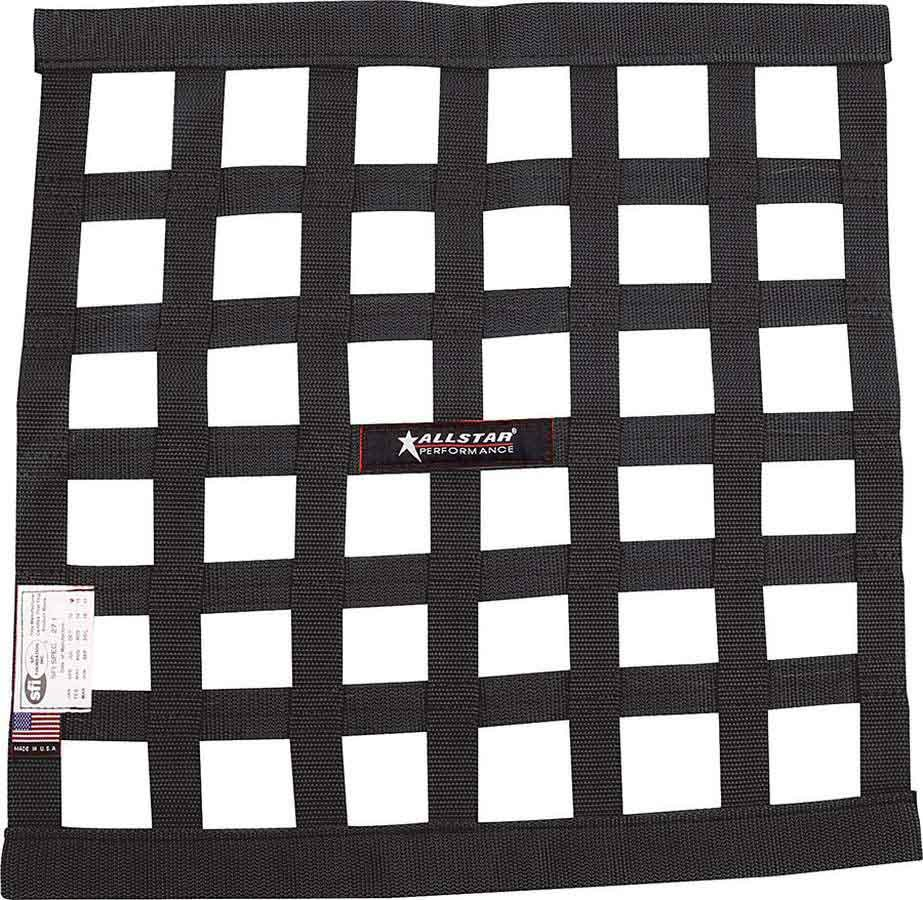 Allstar Performance Window Net Border Style 18 x 18 SFI Black