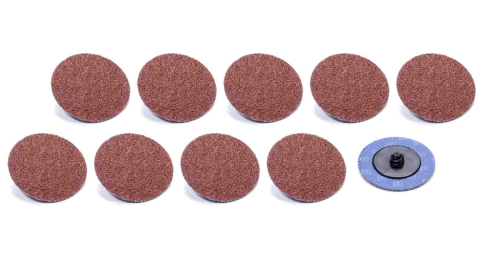 Allstar Performance Twist Lock Sanding Disc 2in 80 Grit 10pk