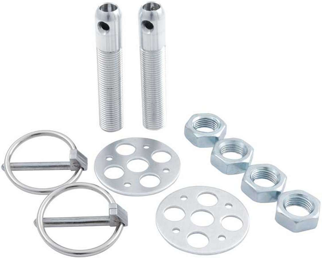 Allstar Performance LW Alum Hood Pin Kit 1/2in Silver