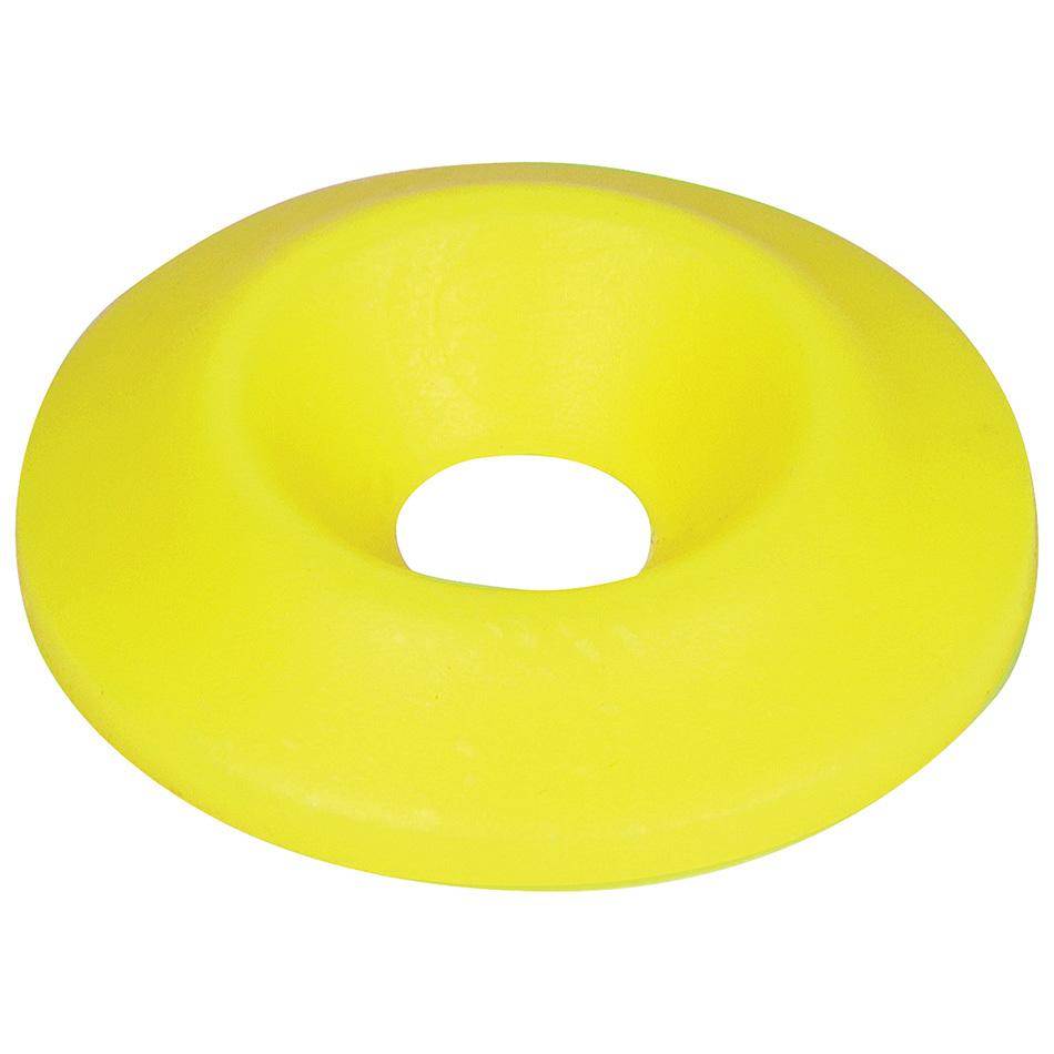 Allstar Performance Countersunk Washer Fluorescent Yellow 10pk