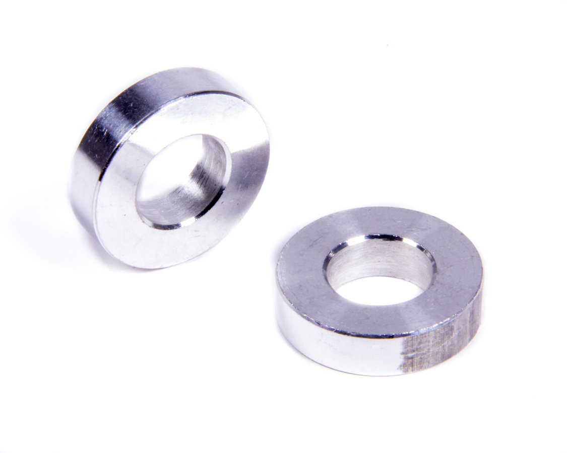 Allstar Performance Flat Spacers Alum 1/4in Thick 1/2in ID 1in OD