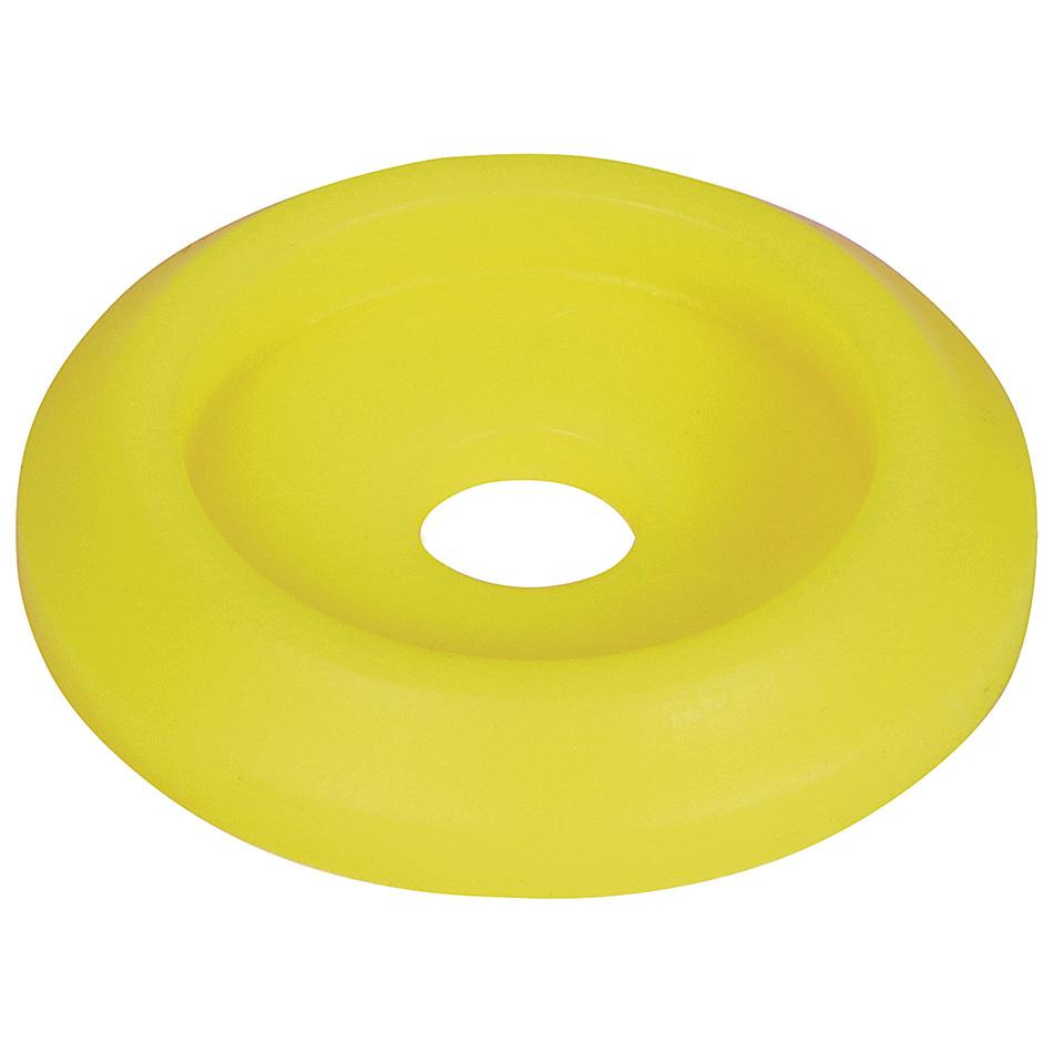 Allstar Performance Body Bolt Washer Plastic Fluorescent Yellow 50pk