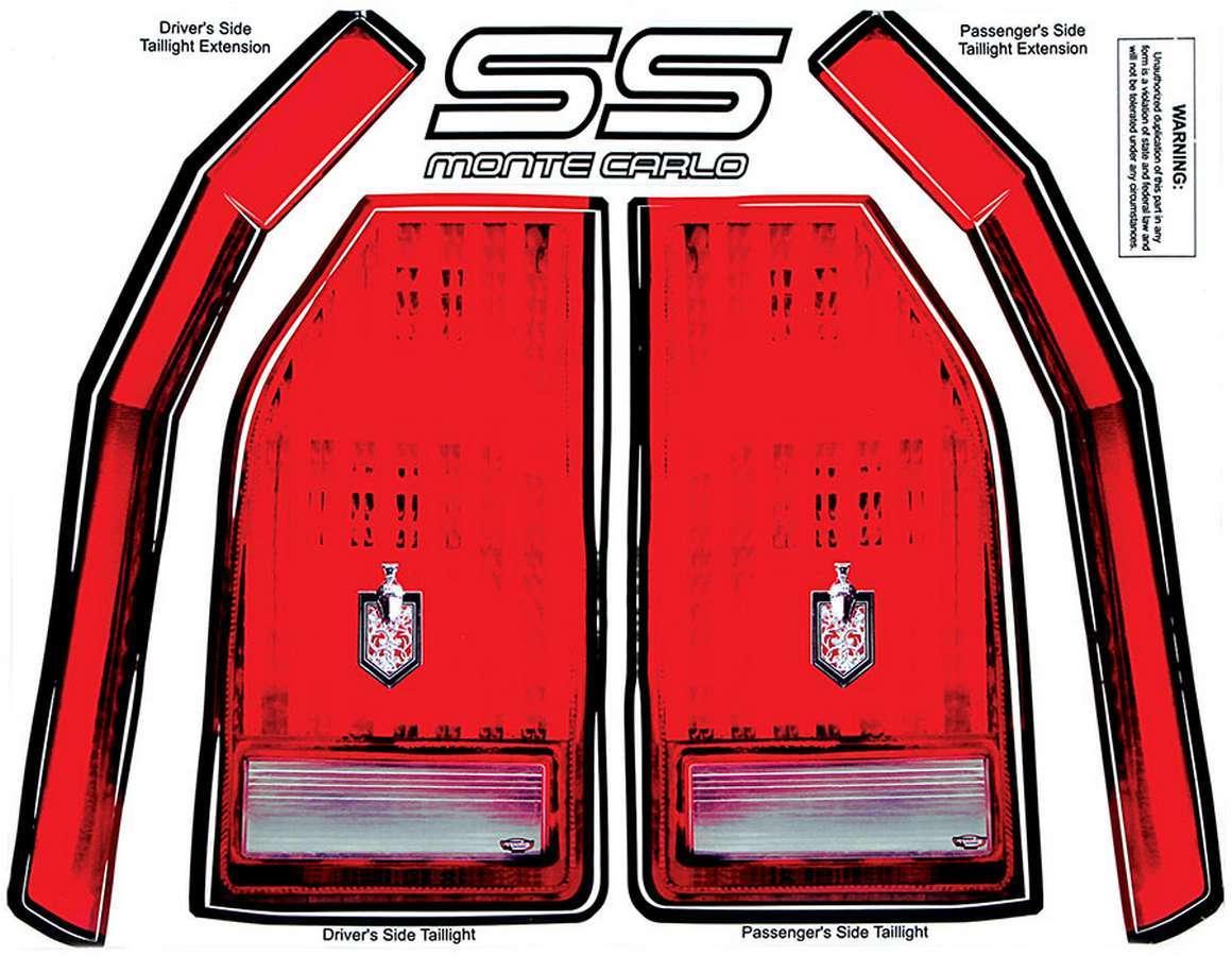 Allstar Performance M/C SS Tail Decal Kit 1983-88