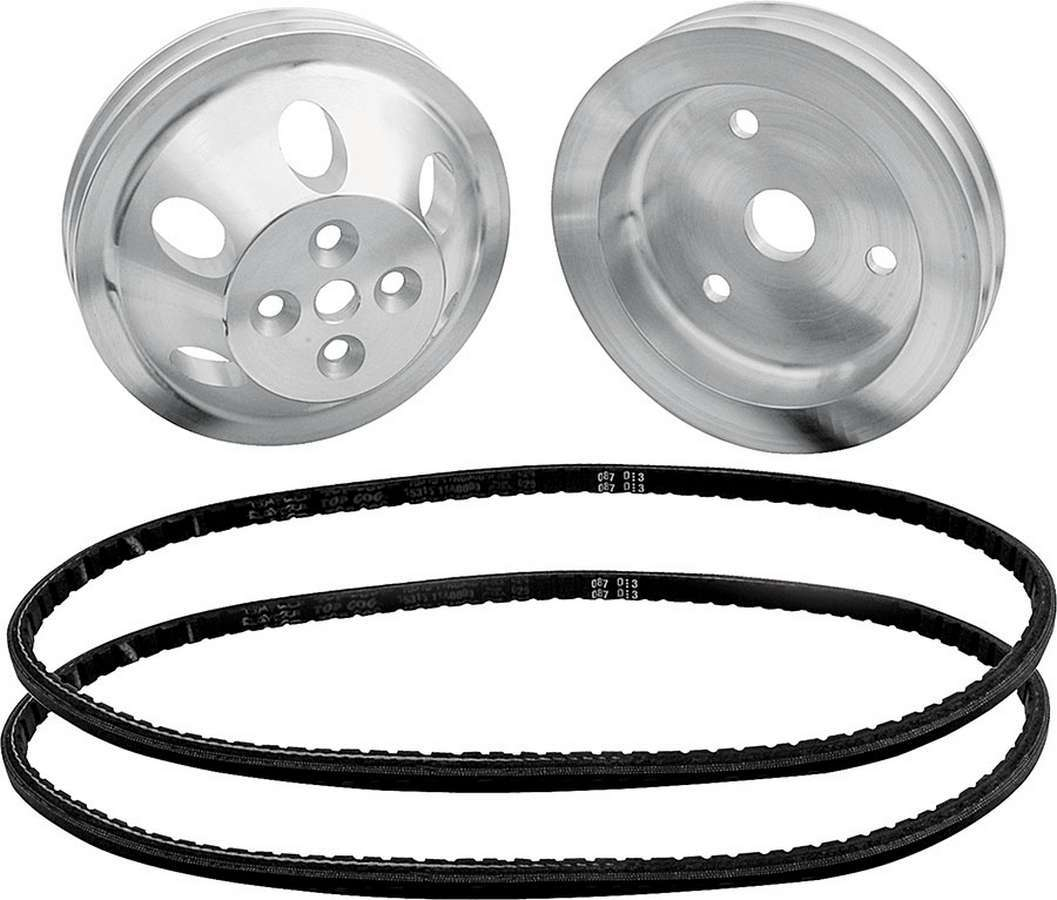 Allstar Performance 1:1 Pulley Kit for use w/o Power Steering