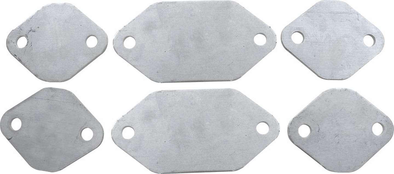 Allstar Performance Exhaust Block Off Plates SBC Aluminum