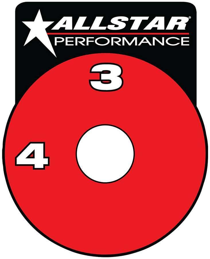 Allstar Performance RF Brake Shut-Off Valve Decal