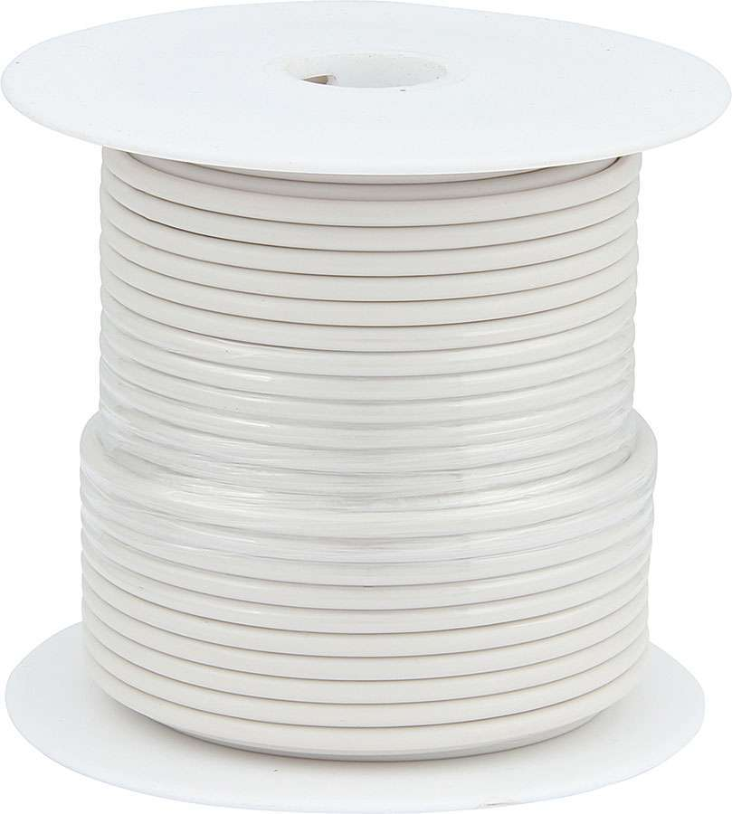 Allstar Performance 14 AWG White Primary Wire 100ft