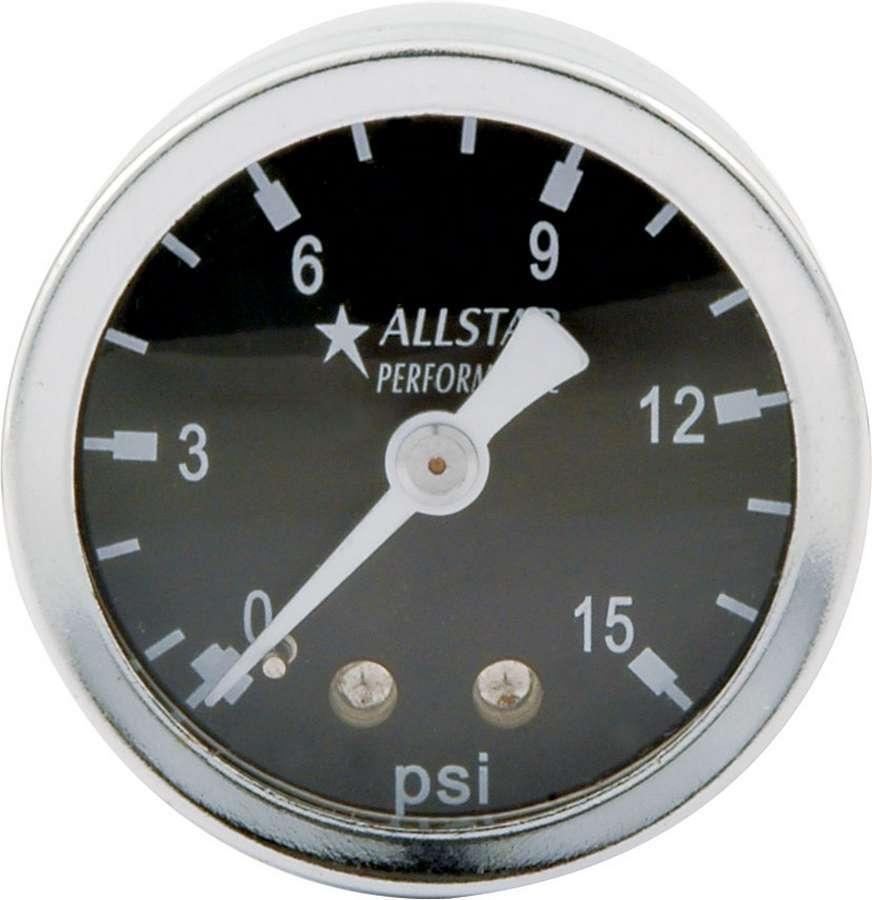 Allstar Performance 1.5in Gauge 0-15 PSI Liquid Filled