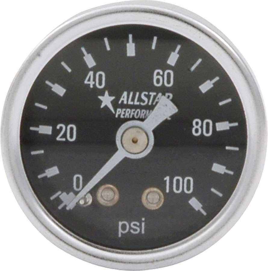 Allstar Performance 1.5in Gauge 0-100 PSI Dry Type